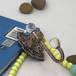 AXJa Attaches pour rideaux montés au mur Crochets d'attache-corde en bronze antique avec rideau en gland, paquet de 2 crochets de draperies de style européen classique Crochets pour manteau de vestia