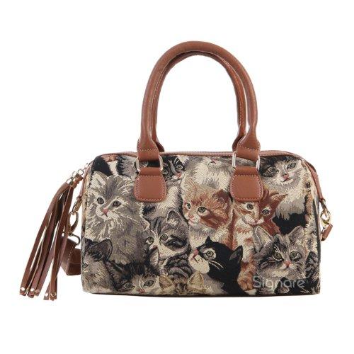 Signare sac d'épaule à poignée tapisserie mode femme Chat