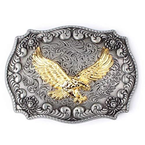 Corrosionp gürtelschnalle westlichen golden eagle gürtelschnalle für männer frauen
