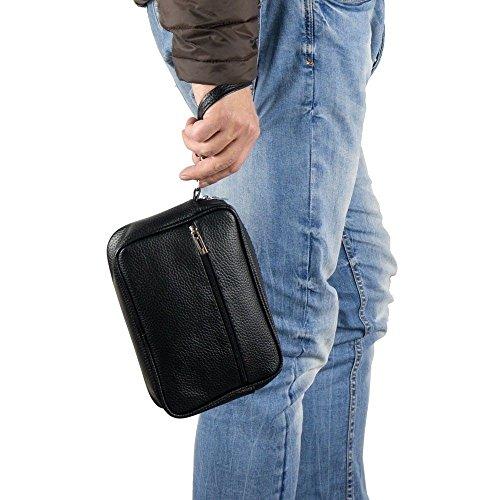 d739fb8095 Emila Borsa borsello borsetta pochette da uomo moto a mano piccola in ecopelle  casual nero in