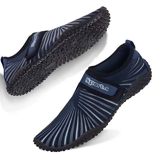 Mabove Strandschuhe Badeschuhe Wasserschuhe Herren Damen Schnell Trocknen Surfschuhe Schwimmschuhe Barfussschuhe Aquaschuhe(Blau/S9999,45 EU) -
