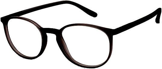 Silver Kartz Oval Unisex Spectacle Frames (Wy-165| 55| Black)