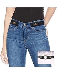 287c24d2e No Buckle Ladies Elastic Belt for Women Mens Invisible Jeans Pants Dress  Stretch Waist Belt up