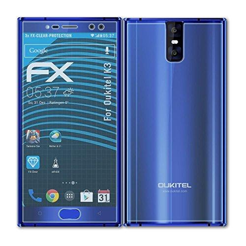 atFolix Schutzfolie kompatibel mit Oukitel K3 Folie, ultraklare FX Bildschirmschutzfolie (3er Set)