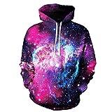 Luckycat 2018 Space Galaxy 3D Sweatshirts Männer/Frauen Hoodies Mit Hut Drucken Sterne Nebel Herbst Winter Lose Dünne Mit Kapuze Hoody Tops