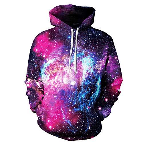 Luckycat 2018 Space Galaxy 3D Sweatshirts Männer/Frauen Hoodies Mit Hut Drucken Sterne Nebel Herbst Winter Lose Dünne Mit Kapuze Hoody Tops -