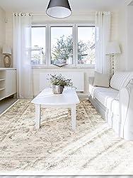 Benuta Vintage Teppich im Used-Look, Kunstfaser, Cream, 80 x 150.0 x 2 cm