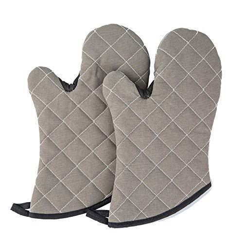 """WH Topflappen [Neu] Professionelle 12,5""""sichere Länge Gesteppte Baumwolle Futter wasserdicht Oberfläche hitzebeständige Küche Backen BBQ Handschuhe -FDA Lebensmittelecht"""