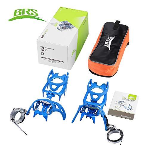 Ice Fishing-elektronik (Anti-Slip 14-Teeth Ice Snow Climbing Cleats Crampons Gripper for Boot Shoes Blue)