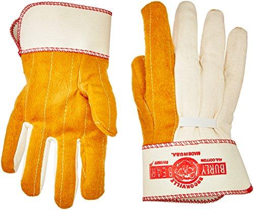 BON 41–148Doppel Palm Arbeitshandschuhe mit Sicherheit Manschette, groß, RJ45 (Doppel-manschette Leder Handschuhe)