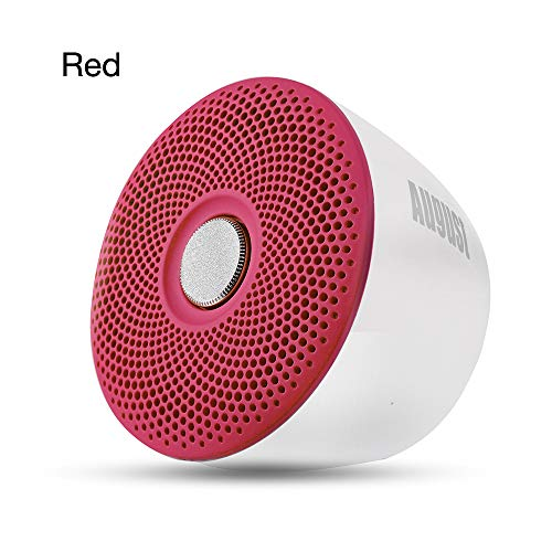 qiyan , Portable Ipx5 Etanche Bluetooth Haut-Parleur sans Fil Douche Haut-Parleur avec Microphone pour Smartphone, Ordinateur, Enceinte Portable Enceinte Rouge