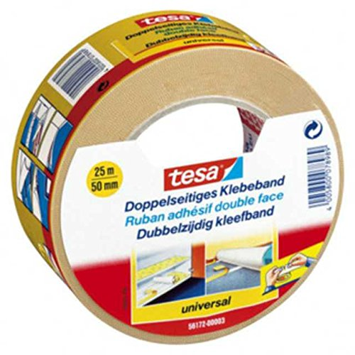 12 Stk. TESA Doppelseitiges Klebeband Doppelklebeband 56172 Universal 50mm x 25m