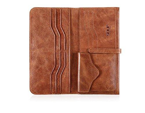 ZXDOP Brieftasche der Männer Mappen-Retro- Männer lange Beutel-Mappe der ledernen Beutel-Männer ( farbe : 5# ) 2#