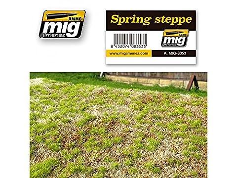 Mig Jimenez Spring Steppe Realistic Ground With Vegetation #