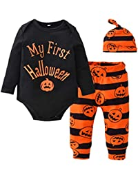 FENICAL I miei Primi Costumi di Halloween Costumi di Halloween Manica Lunga  Pagliaccetto di Zucca… f6d52b2a6d87