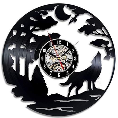 Felaaca Horloge Murale Disque Vinyle Horloge de Conception Horloge Murale Déco Vintage Salle familiale Décoration Diamètre,C