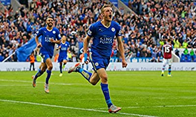 LEICESTER CITY FC - Jamie Vardy - Imported Football Wall Poster Print - 30CM X 43CM Brand New F.C