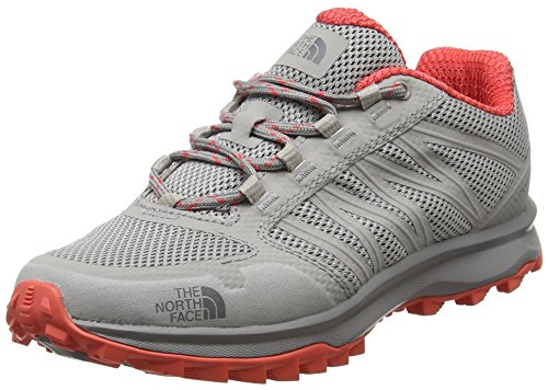 The North Face Litewave Fastpack, Chaussures de Randonnée Basses Femme Gris (Foil Grey/cayenne Red)