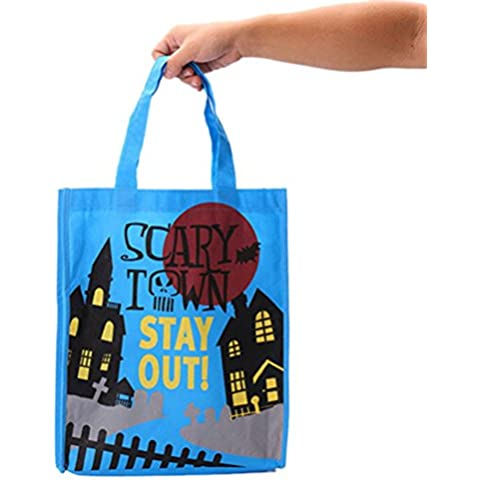 DAYAN Borsa di Halloween per i bambini di Halloween caramelle cesto per il partito di Halloween Pumpkin Borsa borsa di tela di colore blu