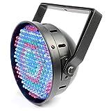 Beamz SlimPar Diskolicht LED-Strahler Party Lichteffekt Effektstrahler (186 RGBW LEDs, 4 Betriebsmodi: Master Slave, musikgesteuert, Automatik, Manuell, mit Stobe Licht Effekt) silber