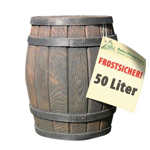 FRÜHJAHRS-SCHNÄPPCHEN-PREIS: Regentonne Eichenfass, Regenfass 50l, Fass, HOLZ-DESIGN AUCH...