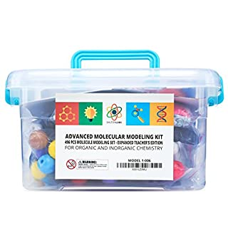 Molecular Model Kit with Molecule Structure Building Software - Dalton Labs Organic Chemistry Set - 496 pcs Teacher Edition - Atoms, Bonds, Orbitals, Links - Advanced Learning Science Educational Toys