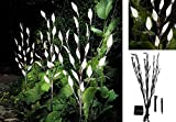 SET OF 3 WHITE COLOURED 60 LED SOLAR ACRYLIC BRANCH TREE LEAF GARDEN LIGHT OUTDOOR