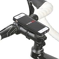 QuickMOUNT 3.0 Kit für Apple iPhone SE / 5S / 5 Fahrradhalterung & Lifestyle Case mit optionaler IPx3 Schutzhülle (Wicked Chili Fahrradzubehör mit Ladekabel- und Kopfhörer Anschluss) matt schwarz