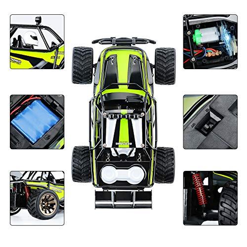 RC Auto kaufen Truggy Bild 3: Aandyou Ferngesteuertes Auto,1:16 RC Auto,2.4GHz Ferngesteuertes Monstertruck,High Speed RC-Auto mit 2 wiederaufladbaren Batterien*