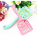 Pets Empire Cat Litter Scoop Candy Color Plastic Scooper With Long Handle Pet Cleaning Tool 1 Piece Color May Vary