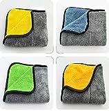 OUTANG Reinigungstuch-Schmutz-Entferner fusselfreier Mitt Doppelseitiger Mikrofasertuch Mikrofaser für die Gelegentliche Farbe des Hauptreinigers