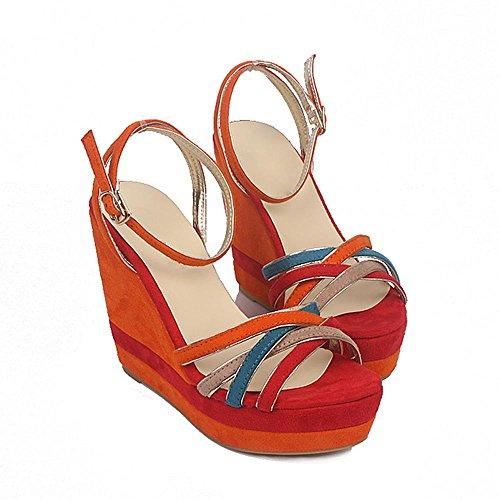 GJDE Sandali Ultra-Alto Cuneo Femminile Bella Estate con i Sandali col Tacco alto Scarpe Impermeabili b
