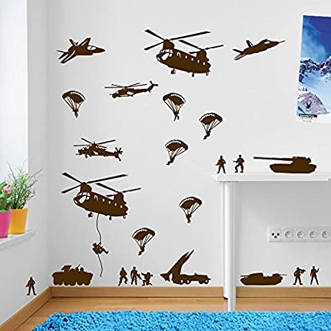 Army Men Military Soldiers Helicopter Wall Decorations Window Stickers Wall Decor Wall Stickers Wall Art Wall Decals Stickers Wall Decal Decals Mural Décor Diy Deco Removable Wall Decals Colorful Stickers