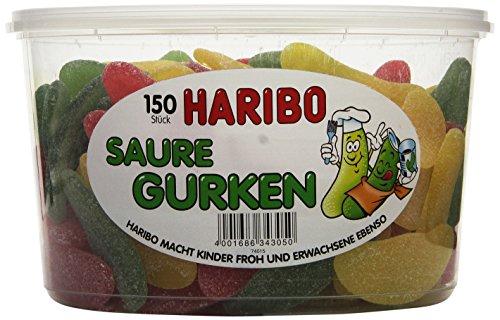 Haribo Saure Gurken,3er Pack (3 x 1.35 kg Dose)