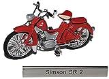 Simson SR 2 Rot Braun DDR Atlas Collection 1/24 Modellcarsonline Modell Motorrad