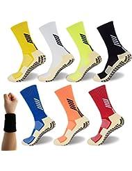 Dee Plus Calcetínes Antideslizantes para Hombre Y Mujer Calcetines Deportivos Algodon Calcetines Unisex – con Antideslizante Suela Baloncesto, Fútbol, Senderismo, Running, Yoga