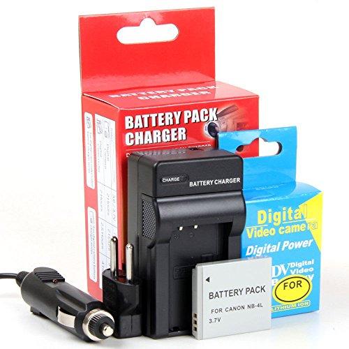 Disko - Cargador + Batería NB-4L NB-4LH 710mAh Canon