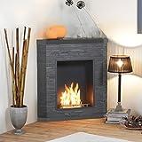 muenkel Design ardesio éthanol cheminée d'angle
