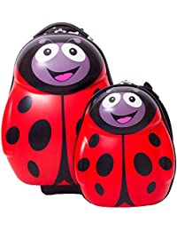 "CUTIES AND PALS KIDS BOY GIRL 17"" TRAVEL CARRY-ON LUGGAGE+13"" BACKPACK - LADYBUG"