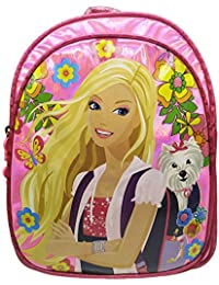 370801685b 3D Barbie Disney Cinderella Dora Frozen Anna and Elsa Sofia Pink School Bag  Backpack for Girls