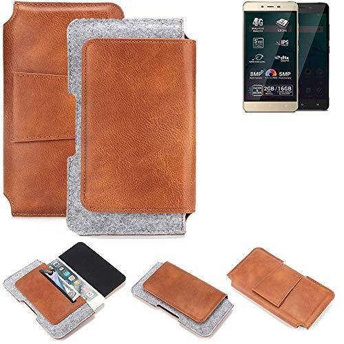 K-S-Trade® Gürteltasche Für Allview P7 Pro Gürtel Tasche Schutz Hülle Hüfttasche Belt Case Schutzhülle Handy Hülle Smartphone Sleeve Aus Filz + Kunstleder (1 St.)