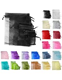 Time to Sparkle TtS pack of 200 Pouches Organza Gift Bags Oragnza Wedding Party Favour Jewellery- 25x35CM-200pcs-Black