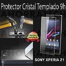 Protector cristal templado para SONY XPERIA Z1, film templado, vidrio templado ULTRA RESISTENTE y GRAN CALIDAD de AHORRATECH