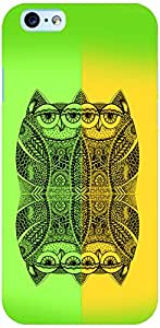 PrintVisa 3D-IPHONE6S-D8160 Birds Abstract Owl Case Cover for Apple iPhone 6S
