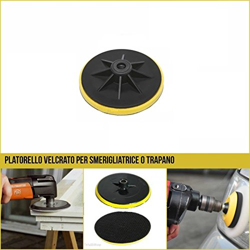 Preisvergleich Produktbild 'takestop® Set 2Stück plattorello Klett-Schleifscheiben 1154.5Winkelschleifer Schleifpapier Bohrmaschine und Flex
