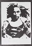 Póster Supergirl Grafiti Hecho A Mano - Handmade Street Art - Artwork