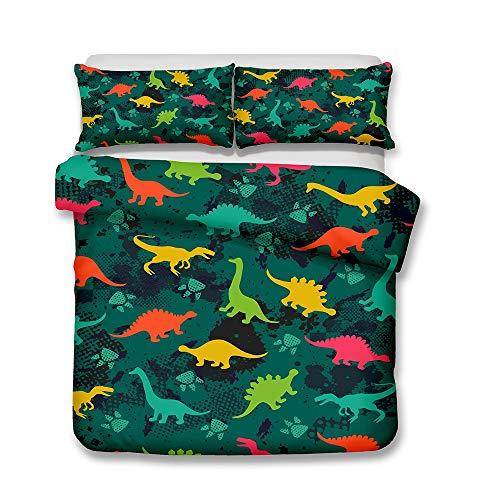 BULK 3D Kind Spielzeug Gedruckt Muster Bettbezug Bettwäsche mit Reißverschluss und 2 Kissenbezüge Hypoallergen Weich Mikrofaser Deckbettbezug zum Jugendliche Kind,A,King