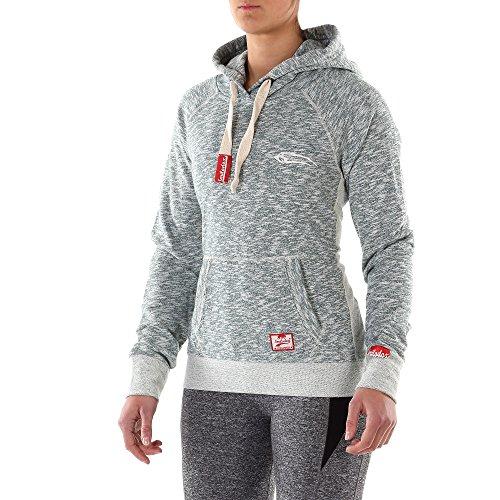 SMILODOX Kapuzenpullover Damen | Basic Hoodie für Sport Fitness & Freizeit | Sportpullover - Sweatshirt Pulli - Pullover mit Kapuze & Kängurutasche - Langarm Grün