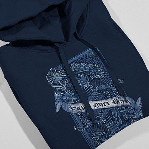 Aliens Game Over Man Women's Hooded Sweatshirt Navy blue