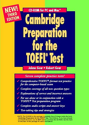 Cambridge Preparation for the TOEFL Test. CD-ROM for PC and Mac